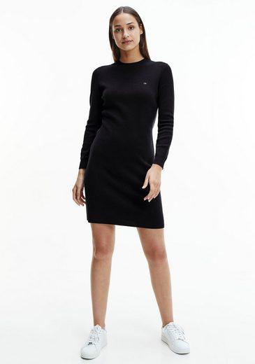 Calvin Klein Jerseykleid »COTTON SILK A-LINE LOGO DRESS« mit Calvin Klein Logo-Paspeln an den Seitennähten