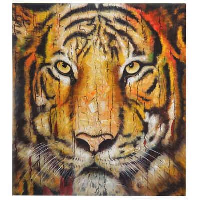 MCW Ölgemälde »Wandbild Tiger«, Tiger, Handgemalt, Hohe Qualität, Jedes Bild ein Unikat, Ölfarben