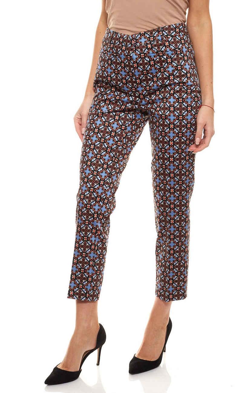 Ashley Brooke by heine Regular-fit-Jeans »ashley brooke Hose Druck-Hose graphische Damen Stoff-Hose mit Shape-Effekt Jersey-Hose Kurzgröße Bunt«