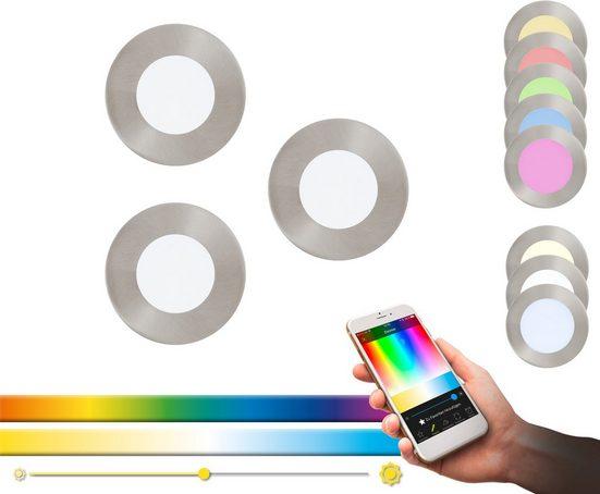 EGLO Einbauleuchte »FUEVA-C«, EGLO CONNECT, Steuerung über APP + Fernbedienung, BLE, CCT, RGB