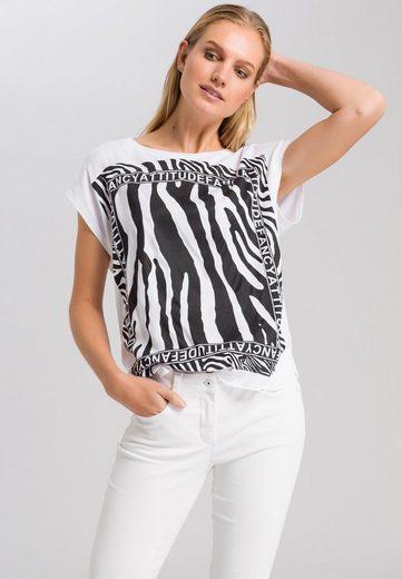 MARC AUREL T-Shirt mit Zebra-Frontprint