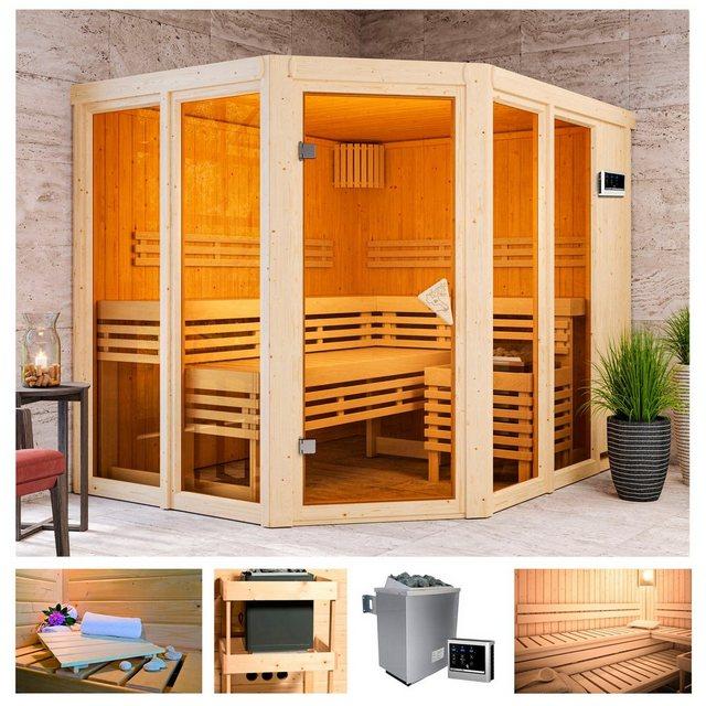 Saunen und Zubehör - KARIBU Sauna »Aaina 3«, 231x196x198 cm, 9 kW Ofen mit ext. Steuerung  - Onlineshop OTTO