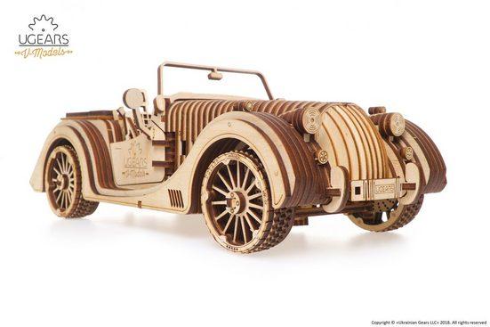 UGEARS 3D-Puzzle »UGEARS Holz 3D-Puzzle Modellbausatz ROADSTER SPORTCABRIO VM-01«, 437 Puzzleteile
