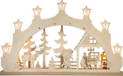 Weigla Schwibbogen »Weihnachtsabend«, 7-flammig