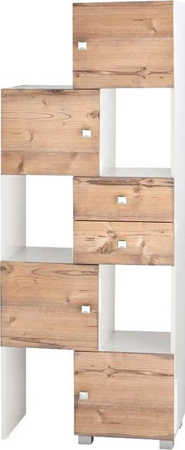 Badregale - Schildmeyer Schieberegal »Bozen«, Breite 38 68 cm, Badregal, 4 Türen 2 Schubladen  - Onlineshop OTTO