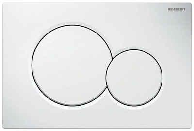 GEBERIT Betätigungsplatte »Sigma 01«,2-Mengen-Spülung, (2 tlg), für 2-Mengen-Spülung weiß, Werkzeuglose Schnelleinstellung