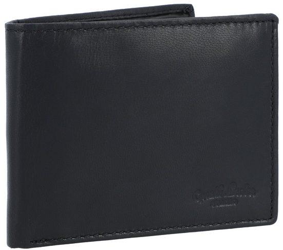 Gusti Leder Geldbörse »Pawel« (1-tlg), Geldbörse Portemonnaie Brieftasche Geldbeutel Herren Braun Leder