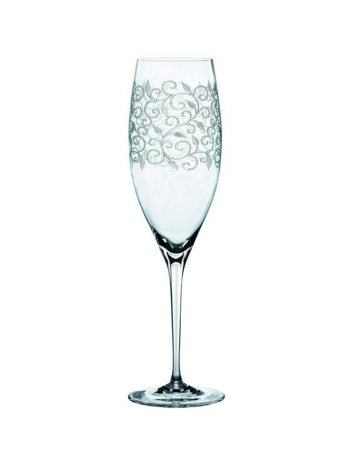 Nachtmann Champagnerglas Dekor 2 Delight in Transparent