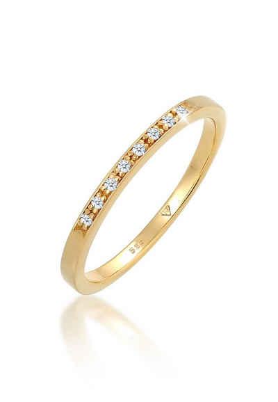 Diamore Verlobungsring »Bandring Verlobung Diamant (0.04 ct) 585 Gelbgold«