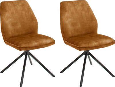 MCA furniture Esszimmerstuhl »Ottawa« (Set, 2 Stück), Vintage Veloursoptik mit Keder, Stuhl belastbar bis 120 Kg