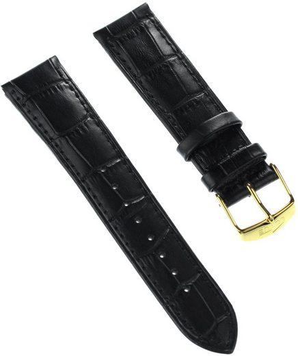 Lotus Uhrenarmband »ULA18150/S Lotus Herren Uhrenarmband 22mm«, Herren Uhrenarmband, Lederarmband schwarz, Elegant
