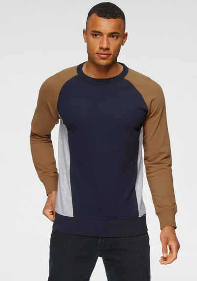 TOM TAILOR Denim Sweatshirt mit Color-Blocking