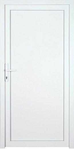 KM MEETH ZAUN GMBH Nebeneingangstür »K604P«, BxH: 98x198 cm, weiß, rechts