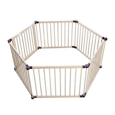 HomeGuru Laufstall »Baby Kinder Laufstall aus Holz 6/8 Elemente - individuell verstellbar - PREMIUM«, 6 Paneelen, Tannenholz