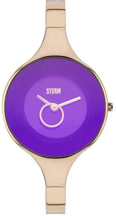 STORM Quarzuhr »UST47272/P0 Storm Damen Armbanduhr rose«, (Analoguhr), Damenuhr rund, mittel (ca. 32mm), Edelstahl, Edelstahlarmband, Fashion-Style