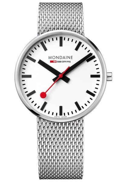 MONDAINE Quarzuhr »mit Mesh-Armband Giant«
