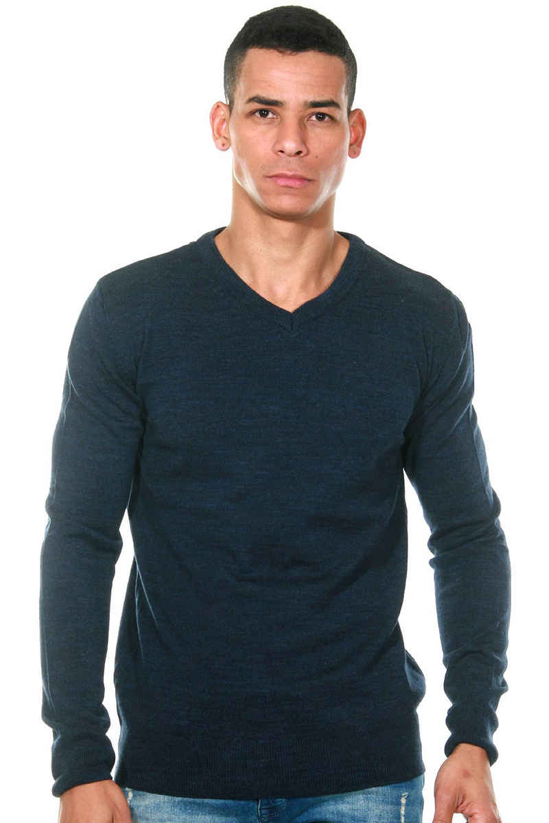 FIOCEO V-Ausschnitt-Pullover