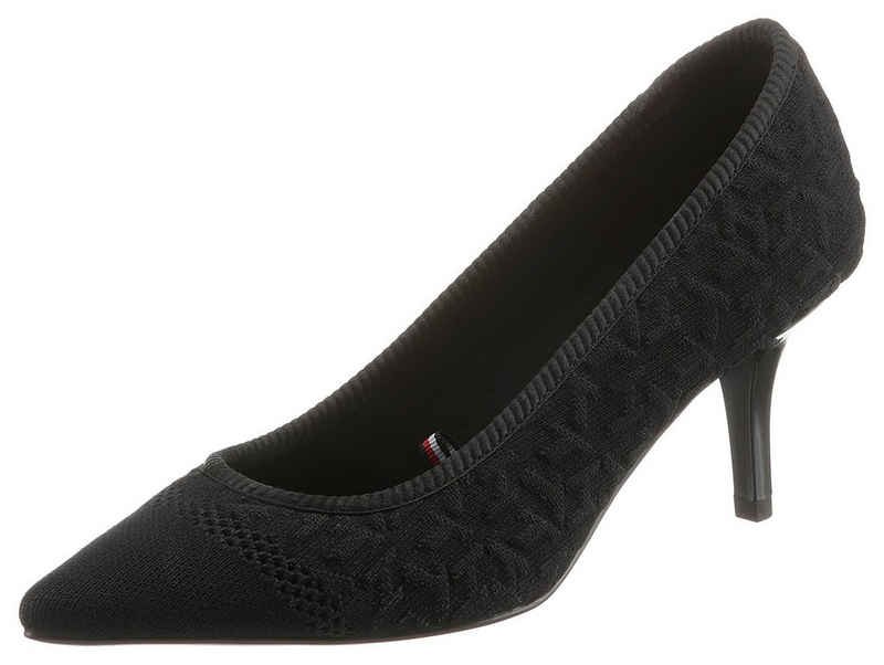 Tommy Hilfiger »TH KNITTED MID HEEL PUMP« Pumps in spitzer Form