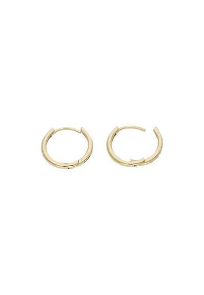 JuwelmaLux Paar Creolen »Creolen Gold Ohrringe 13,3 mm« (2-tlg), Unisex Creolen Gelbgold 333/000, inkl. Schmuckschachtel
