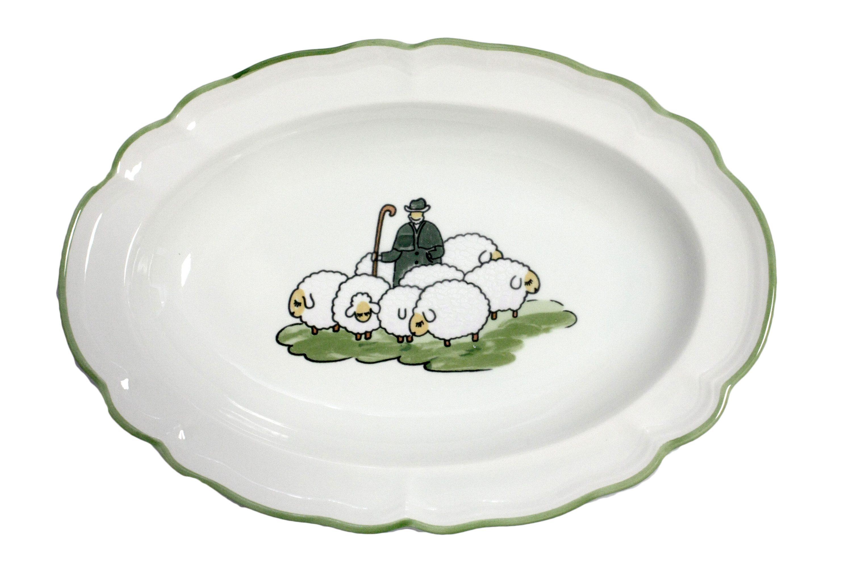 Zeller Keramik Platte oval »Schäfchen«