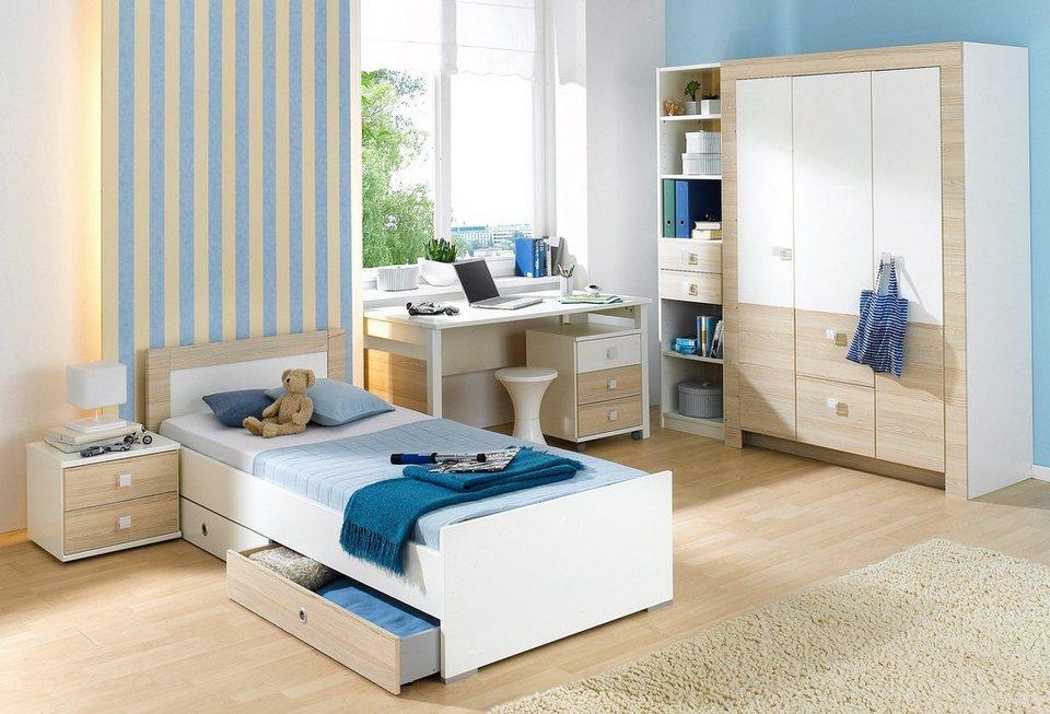 Wimex Jugendzimmer-Set (4-tlg.) in weiß/struktureichefarben hell