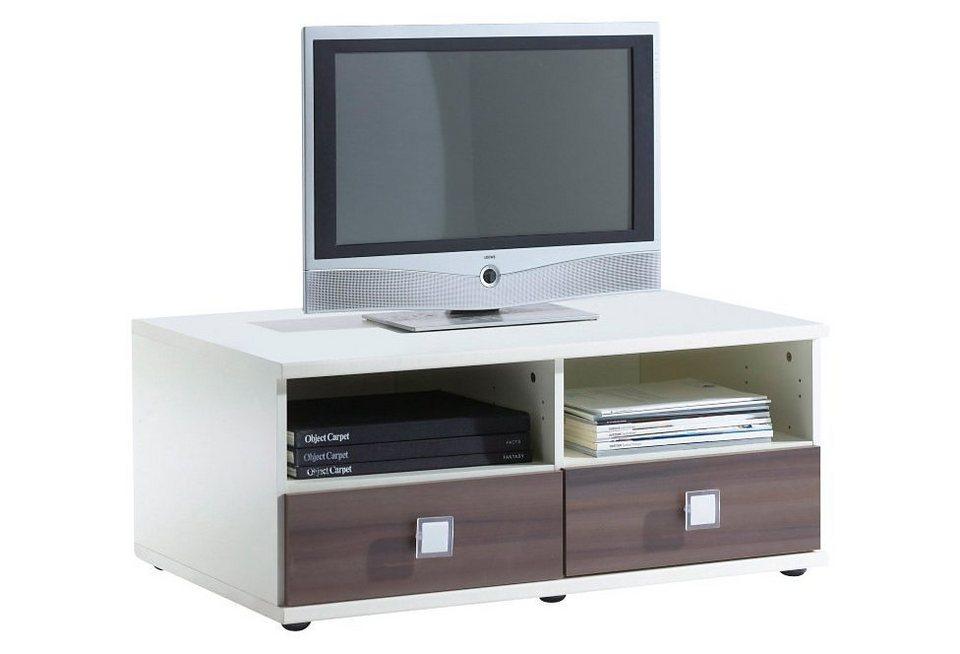 Wimex TV-Tisch in weiß/struktureichefarben hell
