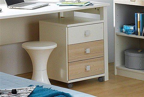 Wimex Rollcontainer in weiß/struktureichefarben hell
