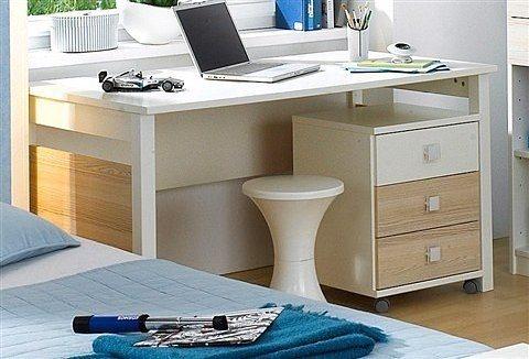 Wimex Schreibtisch in weiß/struktureichefarben hell