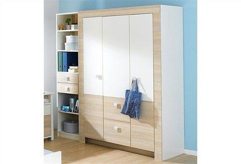 Wimex Kleiderschrank in weiß/struktureichefarben hell