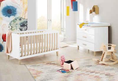 Pinolino® Babymöbel-Set »Lumi«, (Spar-Set, 2-St), breit; Made in Europe; mit Kinderbett und Wickelkommode