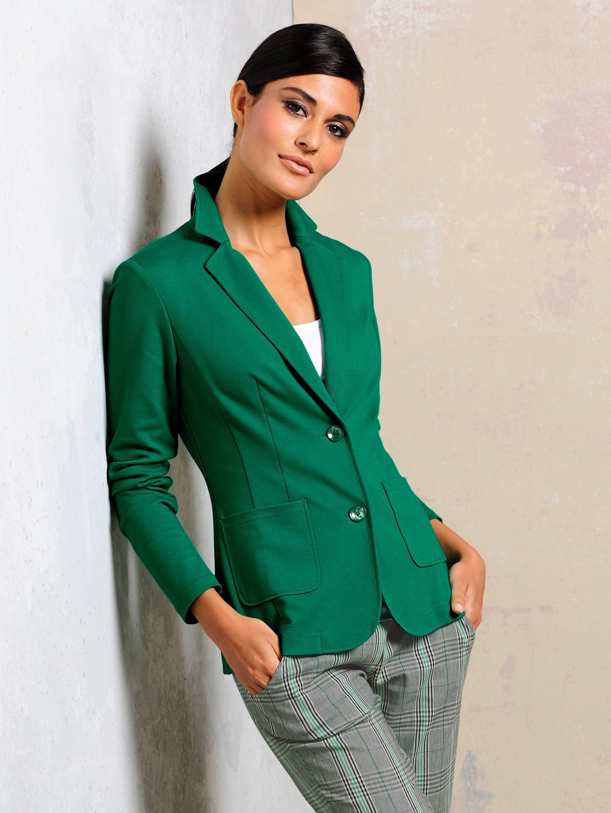 Alba Moda Jerseyblazer In Modischer Farbgebung