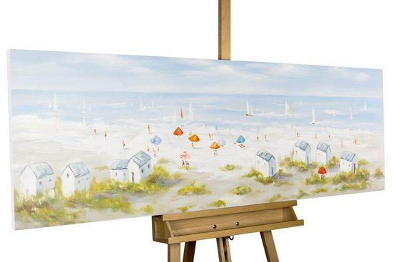 KUNSTLOFT Gemälde »Brise der Nordseeluft«, handgemaltes Bild auf Leinwand