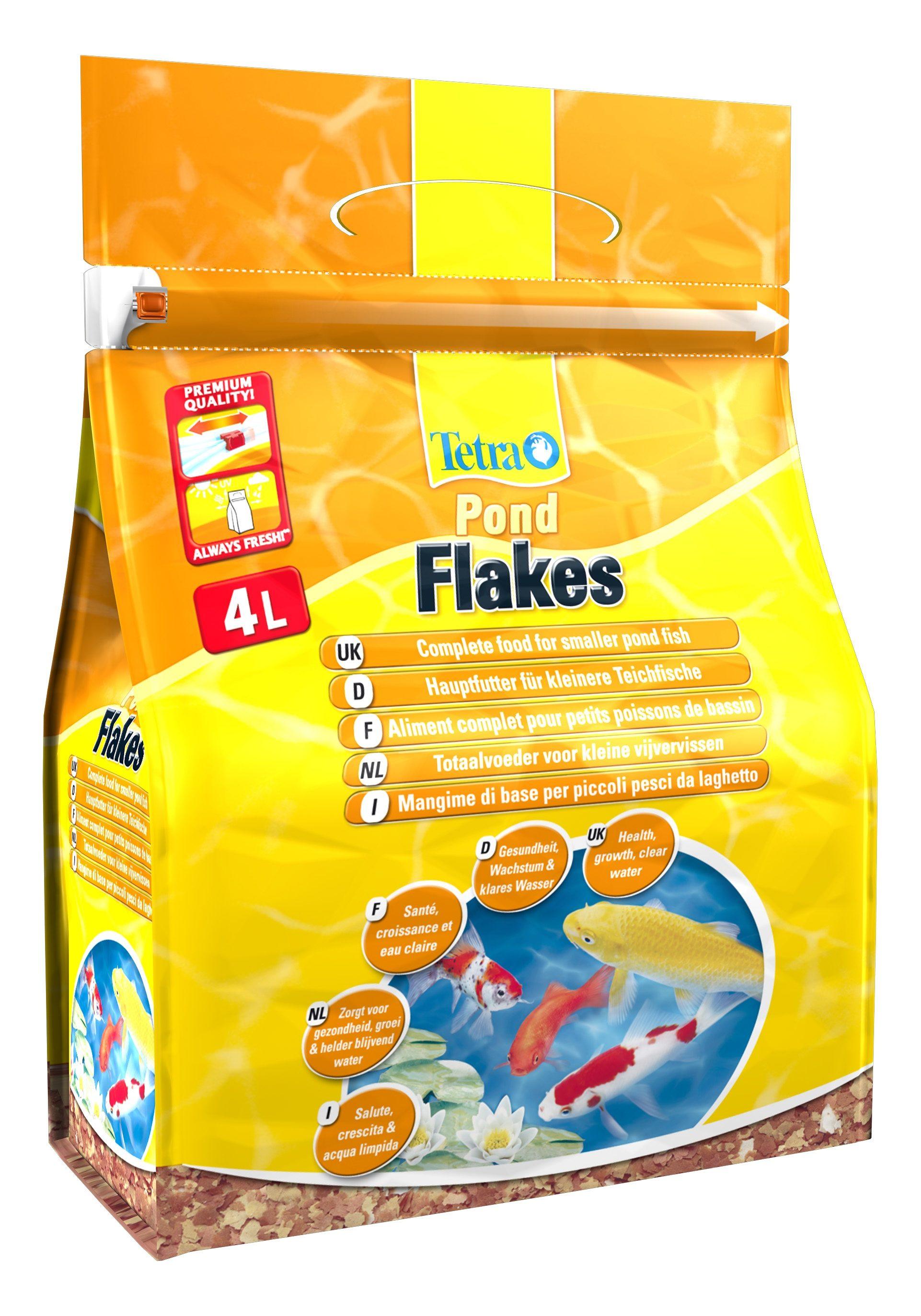 Fisch-Flockenfutter »Pond Flakes« 4 l Beutel