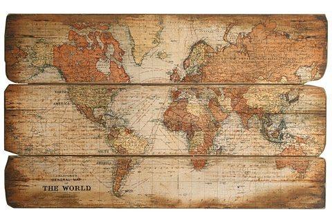 Bild Weltkarte in bunt