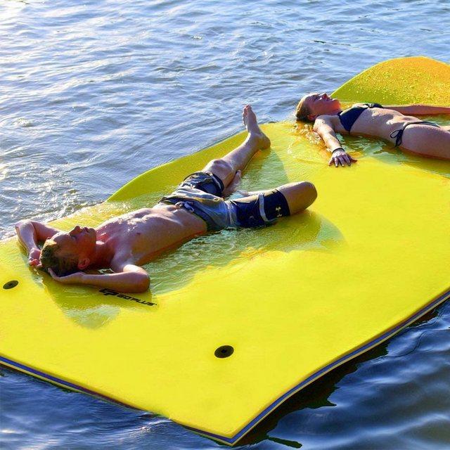 COSTWAY Hängematte »Schwimmmatte 300kg Tragkraft Schwimmende Wasser Bett Schwimminsel« | Garten > Hängematten | COSTWAY