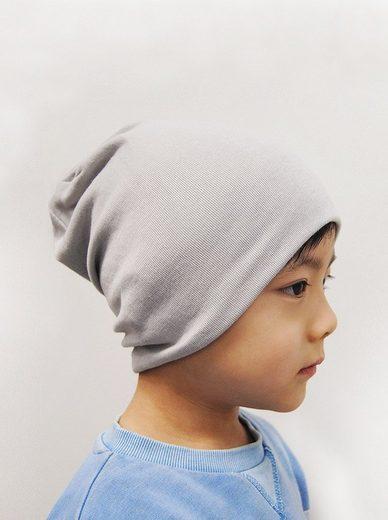 axy Beanie »Kinder Slouch Beanie Long Mütze 1-5 Jahre alt« Mütze für Jungen Mädchen Kleinkind Unisex Unifarbe