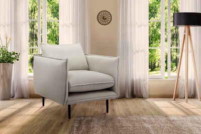 INOSIGN Sessel »Somba«, mit dickem Keder und eleganter Optik