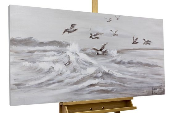 KUNSTLOFT Gemälde »Kapriolen«, handgemaltes Bild auf Leinwand