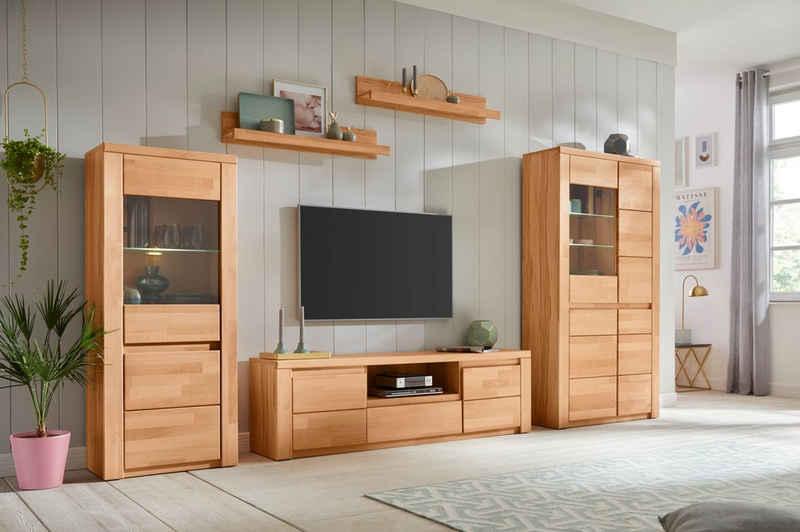 Premium collection by Home affaire Wohnwand »Burani«, (Set, 4-St), teilmassives Holz
