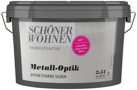 SCHÖNER WOHNEN-Kollektion Wandfarbe »Metall-Optik Effektfarbe silber«, 2,5 l