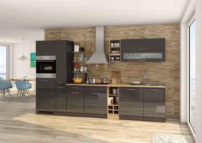 HELD MÖBEL Küchenzeile »Mailand«, mit Elektrogeräten, Breite 340 cm