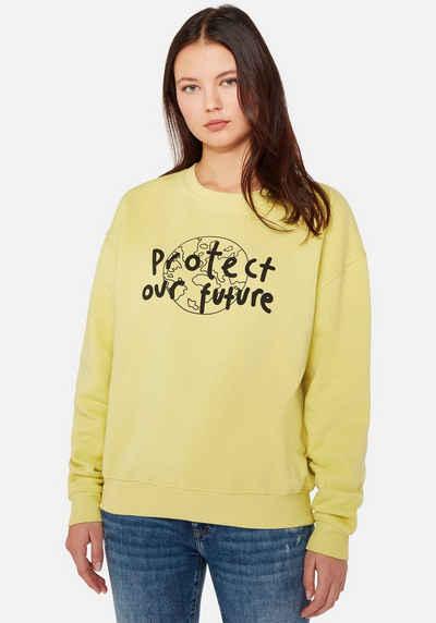 "Mavi Sweatshirt »PROTECT NATURE SWEAT« mit ""PROTECT OUR FUTURE"" Frontdruck"