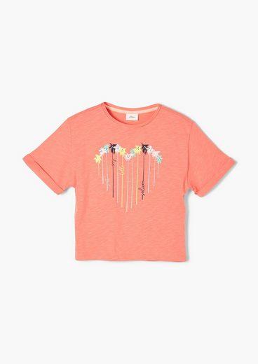 s.Oliver Kurzarmshirt »Printshirt mit weiten Ärmeln« (1-tlg)