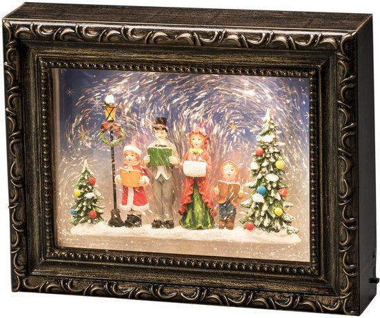 KONSTSMIDE LED Laterne, LED Bilderrahmen mit Weihnachtschor