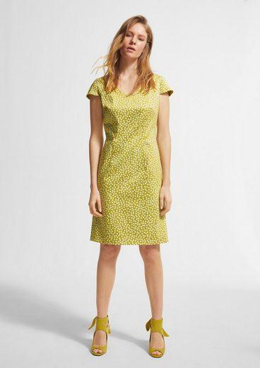 Comma Minikleid »Geblümtes Kleid mit U-Ausschnitt«