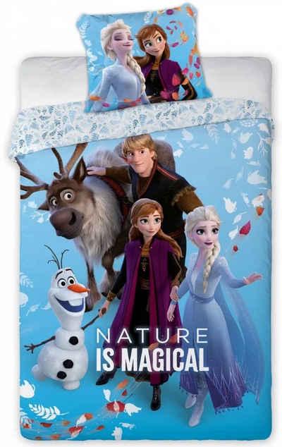 Kinderbettwäsche »Die Eiskönigin Anna Elsa - Kinder Bettwäsche Set 140x200 cm Deckenbezug Frozen 738«, Disney Frozen
