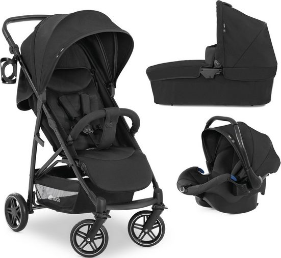 Hauck Kombi-Kinderwagen »Rapid 4R Plus Trioset«, inkl. Babywanne und Babyschale; Kinderwagen