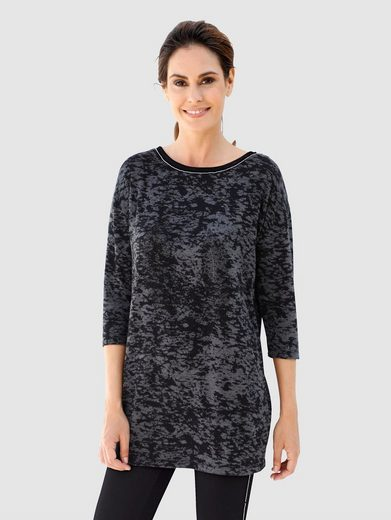 Laura Kent Longshirt mit schwarzen Dekosteinen