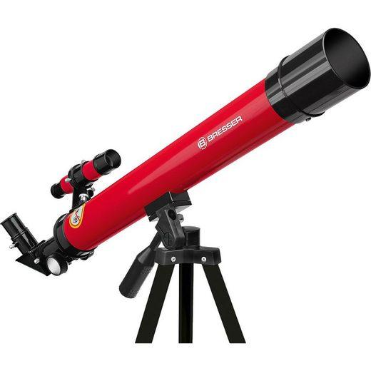 BRESSER Teleskop »Linsenteleskop 45/600 AZ Rot«