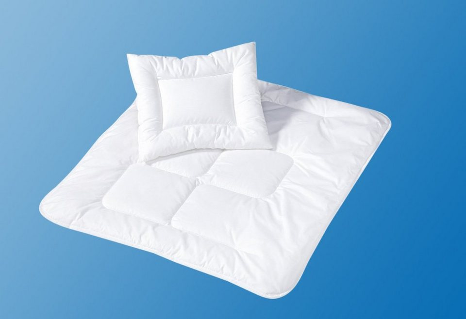 set ganzjahresbettdecke f r babys kleinkinder kopfkissen basic z llner 2 tlg online. Black Bedroom Furniture Sets. Home Design Ideas